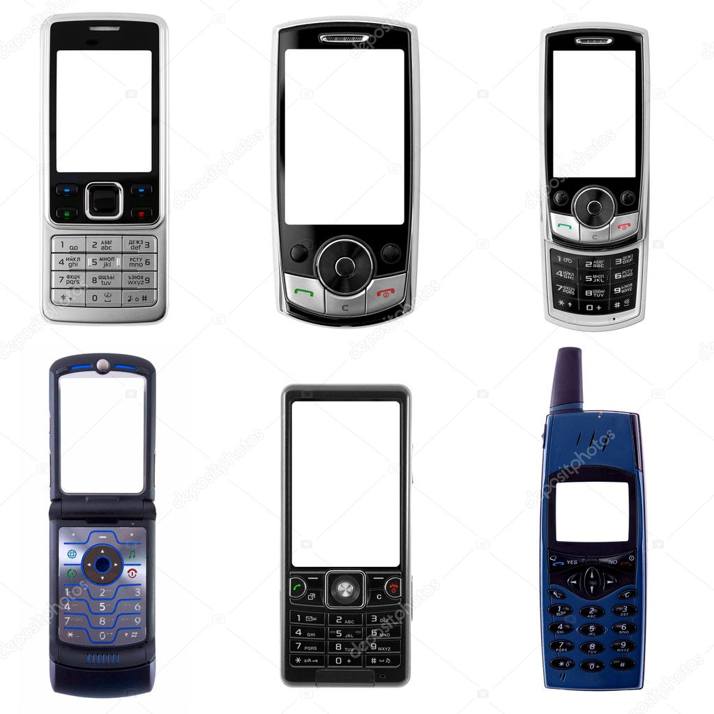 Set of cell phones — Stock Photo #1124505