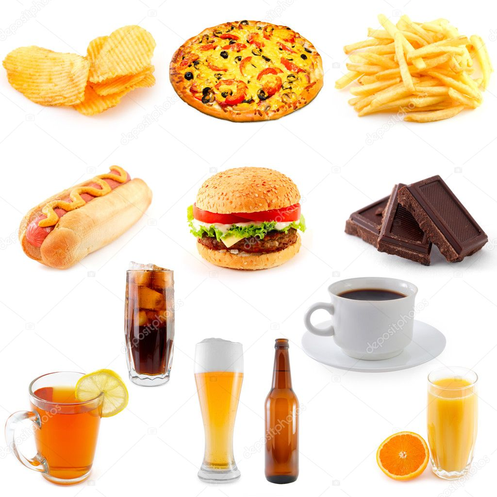 Set of fast food   Foto de Stock   #1124741