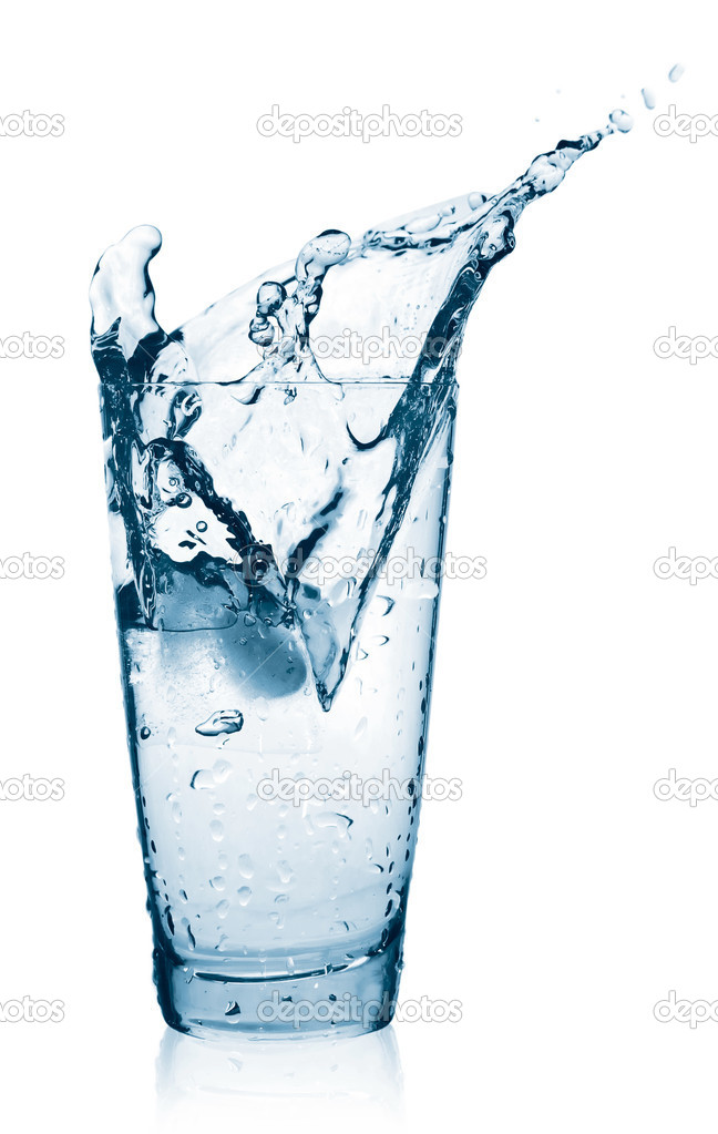 Water splash in a glass — Stock Photo #1125064