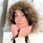 kadın genç kış — Stok fotoğraf