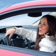 Foto Stock: Beautiful woman driving