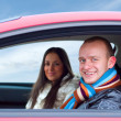 Couple in a car — Stock Photo #1156427