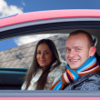 Couple in a car — Stock Photo #1156428