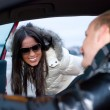 Couple in a car — Stock Photo #1156480