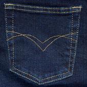 Bolso da calça jeans. — Fotografia Stock