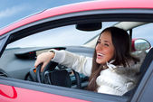 Beautiful woman driving — Stock Photo