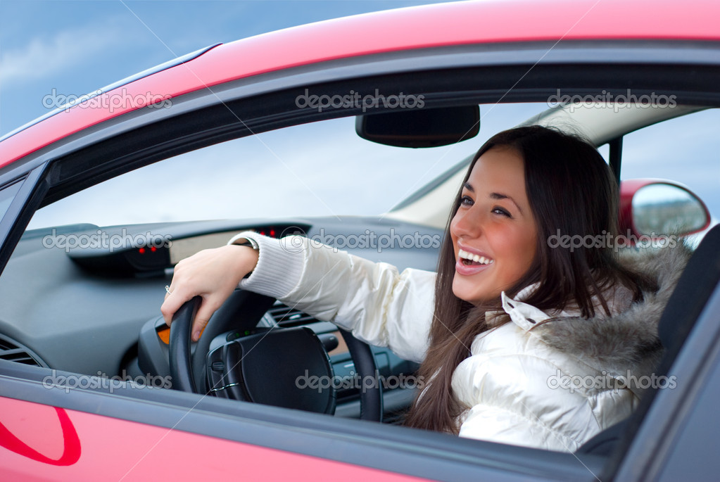 Beautiful woman driving — Stock Photo #1156413