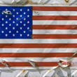 Stock Photo: Americflag sticker