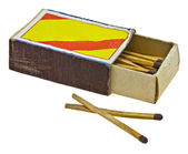 Vintage box of matches — Stock Photo