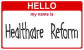 Name healthcare reform — 图库照片
