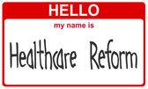 Reforma da saúde de nome — Foto Stock