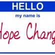 Royalty-Free Stock Photo: Name hope change