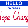 Name hope change — Stock Photo
