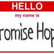 Name promise hope - Foto Stock