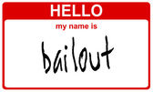 Name bailout — Stock Photo