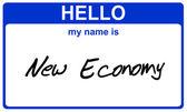 Name new economy — Stock Photo