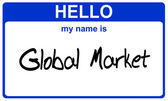 Name global market — Stock Photo