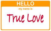 Name true love — Stock Photo