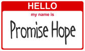 Name promise hope — Stock Photo