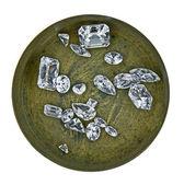 Diamonds in a box — Stock Photo