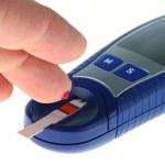 Glucose level blood test — Stock Photo