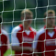 Grid of a soccer gate — Stock Photo