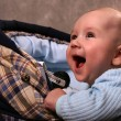 Stock Photo: Baby in carriage