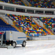 Ice resurfacing machine - Stock Photo