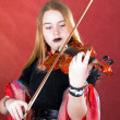 Royalty-Free Stock Photo: The gothic violinist.