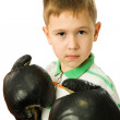 The boy in boxing gloves — Stock Photo #1115398