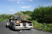 Vyhořel automobil — Stock fotografie