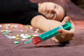Drugs abuse — Stock Photo