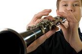 Clarinet player — Stock Photo