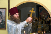 The Russian orthodox priest — 图库照片