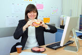 Lunch At Work — Stock Photo