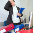 Tired the employee of office — Stock Photo #1120624