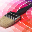 Foto Stock: Colorful Paint Color Swatches