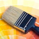 kleurrijke verf kleurstalen — Stockfoto