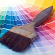 Colorful Paint Color Swatches - Stock Photo