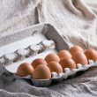 Eggs in Carton — Stock Photo