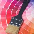 Colorful Paint Color Swatches - Foto Stock