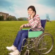 Womin wheelchair — Foto Stock #1122599