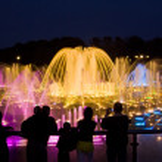 Shining fountain — Stock Photo