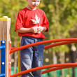 Boy on a playground — Stock Photo