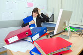 Tired the employee of office — Stock Photo
