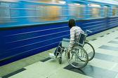 Woman in wheelchair — Stock Photo
