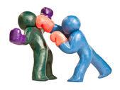 Plasticine boxers — Stock Photo