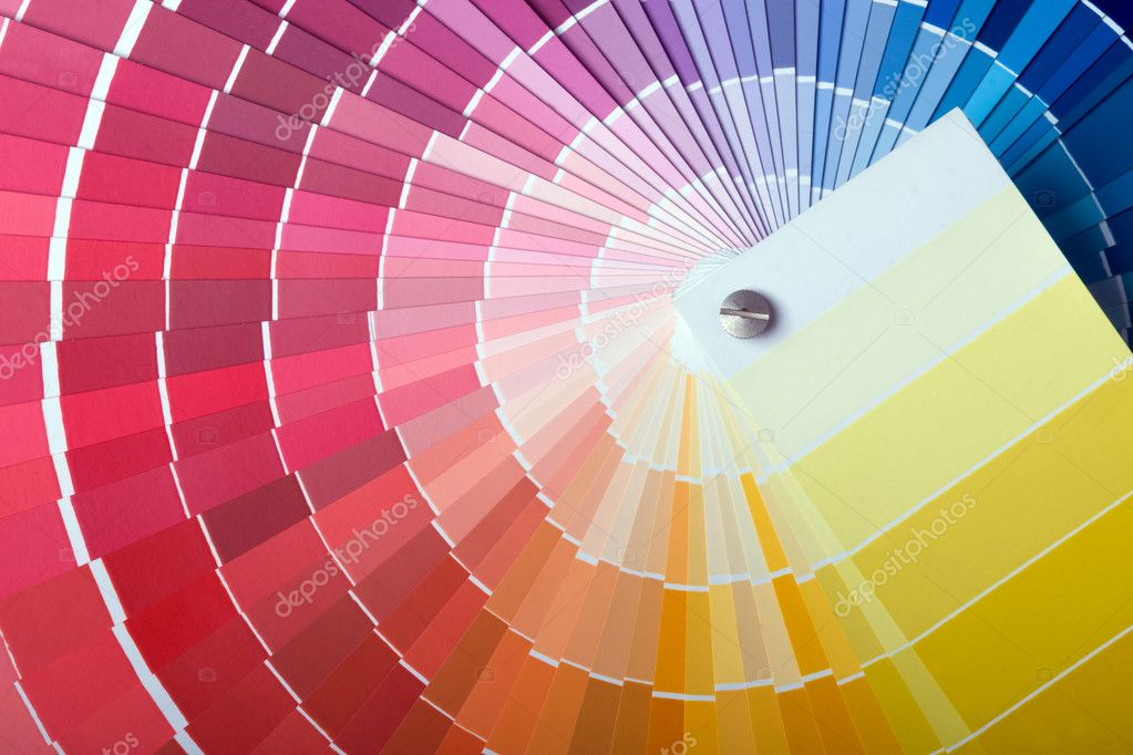 Close-up view of a color chart used for paint selection — Stock Photo #1120667