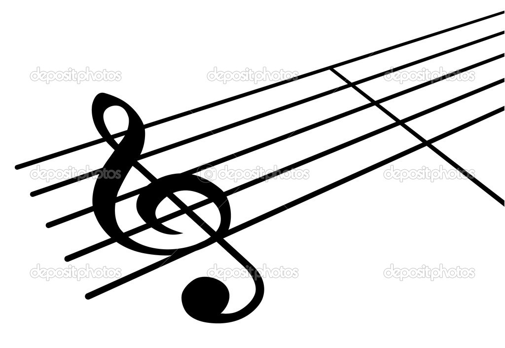 Music note stock illustration