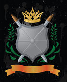 An heraldic shield — Stock Vector